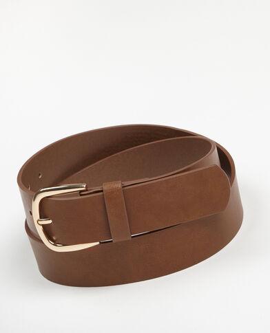 Cinturón ancho caramelo