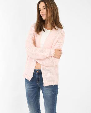 Cardigan van dik tricot Roze