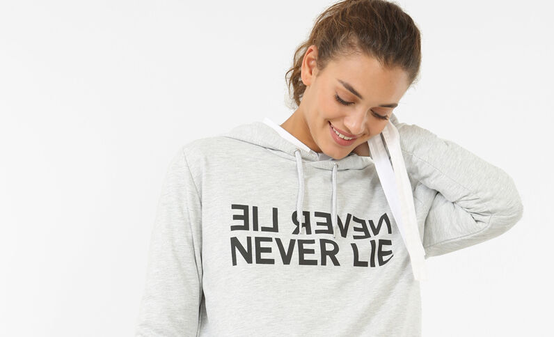 Message-Sweatshirt Grau