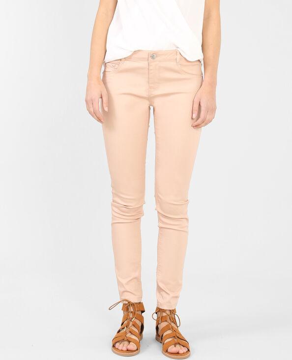 Pantalon skinny rose pastel