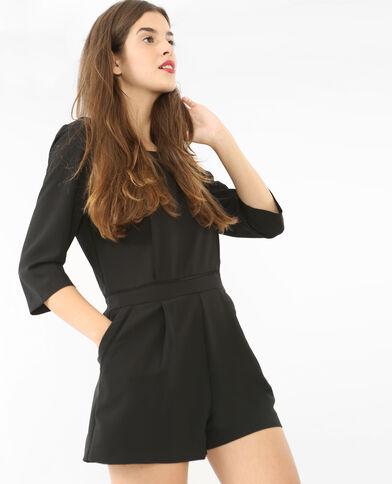 Kombi-Shorts mit V-Ausschnitt am Rücken Schwarz