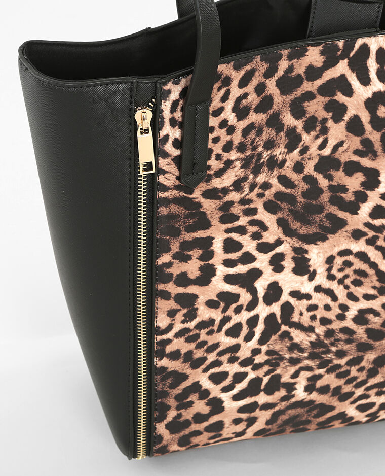gro e tasche mit leoparden motiv schwarz 983132899a08 pimkie. Black Bedroom Furniture Sets. Home Design Ideas