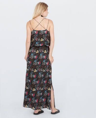 Vestido largo espalda cruzada negro