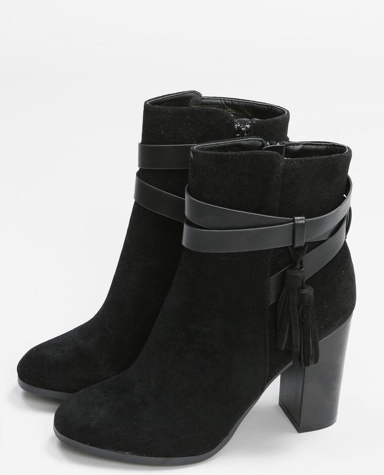 boots talon carr noir 986114899a08 pimkie. Black Bedroom Furniture Sets. Home Design Ideas