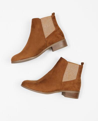 Boots chelsea glitter marron