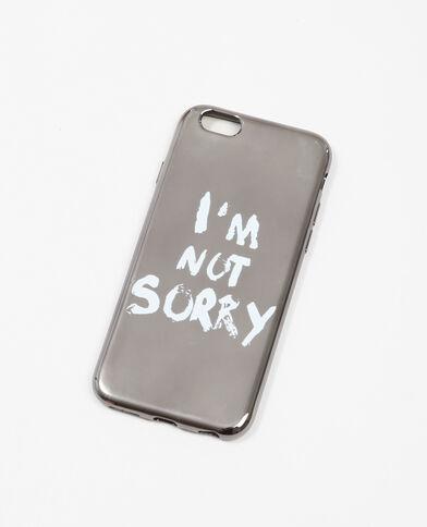 iPhone-hoesje met opschrift grijs