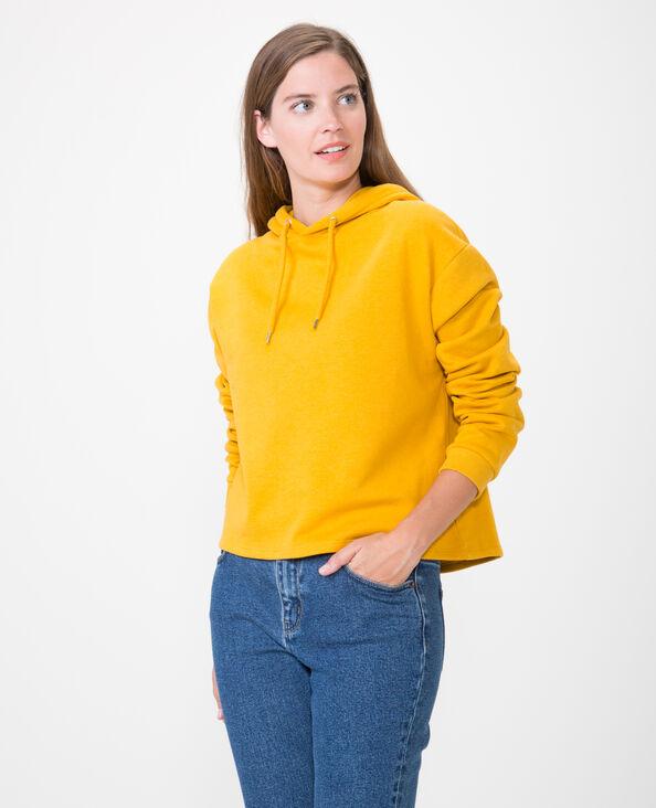 Felpa corta giallo mostarda