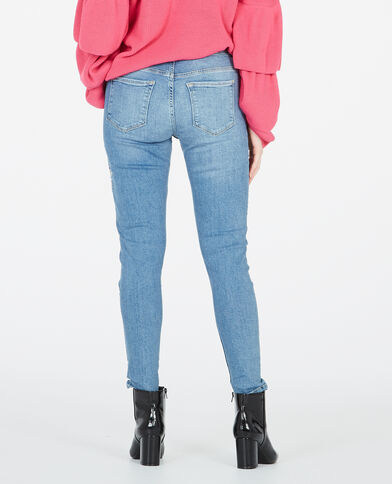Skinny-Jeans, bestickt Blau