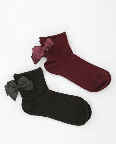 Lot de chaussettes nœud noir