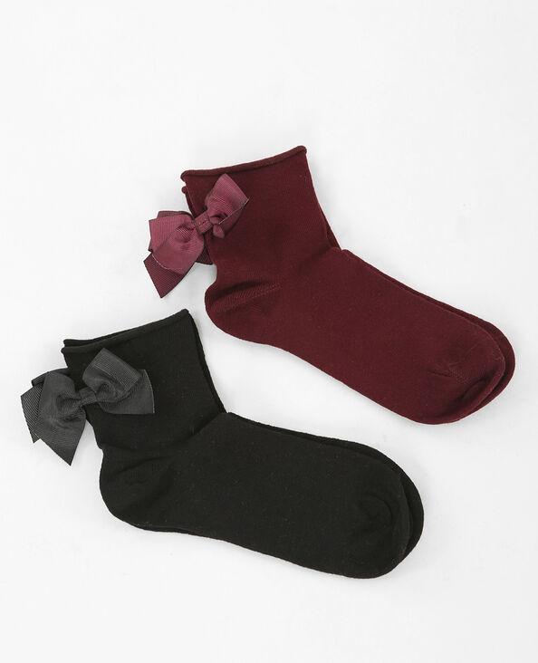 Set sokken met strik zwart