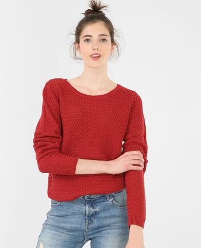 Pullover mit rundem Halsausschnitt Rot
