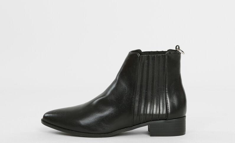 Boots chelsea pointues noir