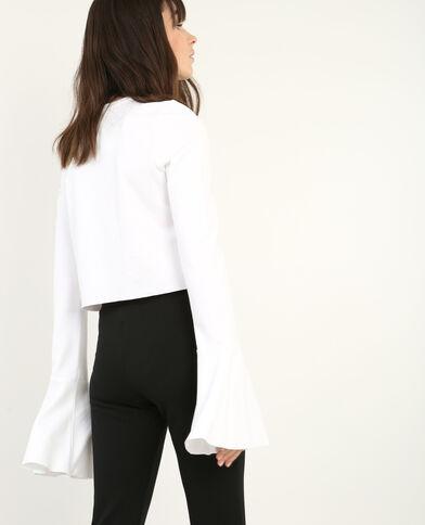 Sweater met pagodemouwen gebroken wit