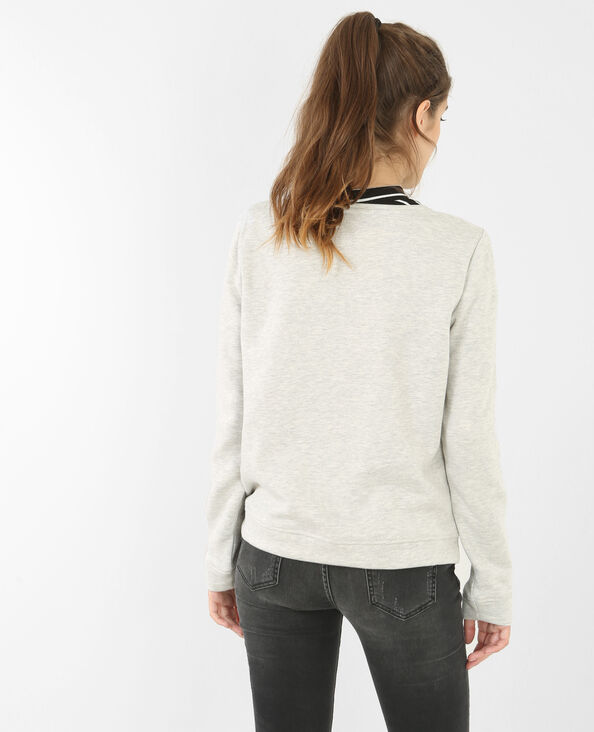 Verspieltes Sweatshirt Grau