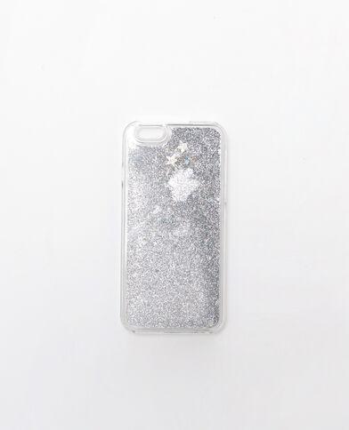 Iphone-Schale mit Pailletten Grau