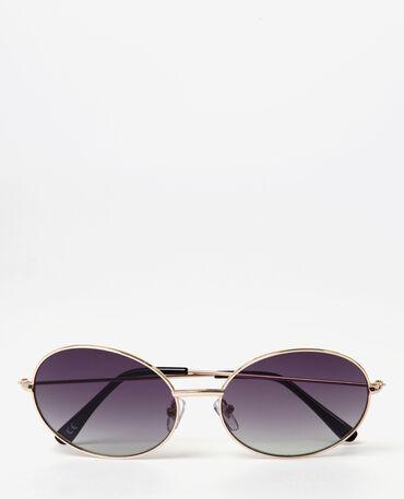Gafas de sol ovaladas dorado