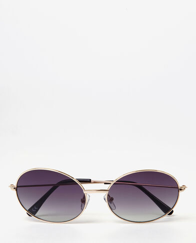 Ovale Sonnenbrille Gold