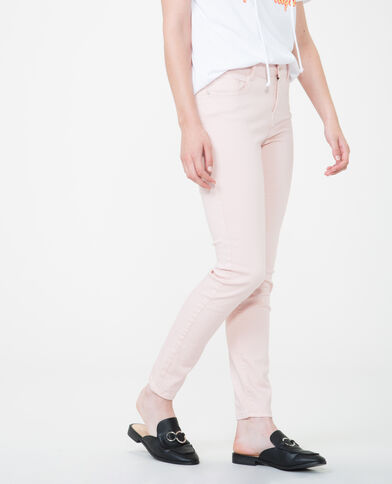 Pantalon skinny push up rose