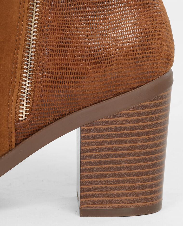 Boots effetto coccodrillo marrone