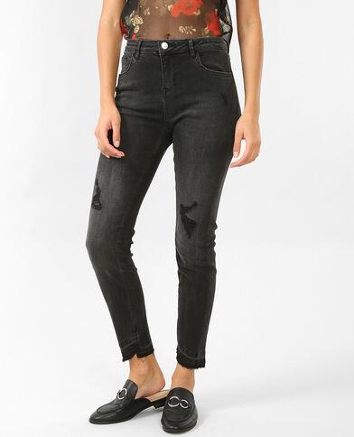 Skinny-Jeans, mittlere Größe Schwarz