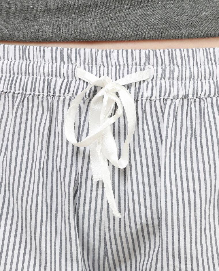 Short homewear rayé blanc