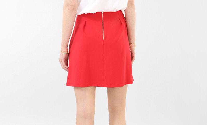 Tellerrock mit Falten Rot
