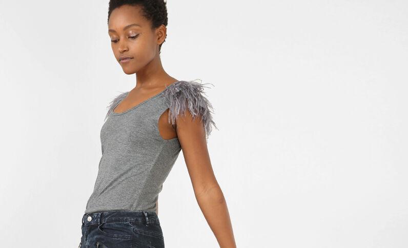 Débardeur plume gris