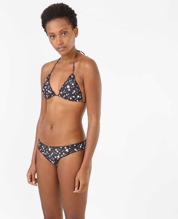 Triangel-Bikinioberteil mit Sterne-Motiv Schwarz
