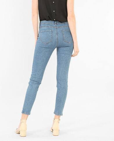 Skinny-Jeans mit hoher Taille Denimblau
