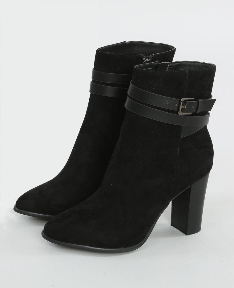 boots mit schnalle und absatz schwarz 986095899a08 pimkie. Black Bedroom Furniture Sets. Home Design Ideas