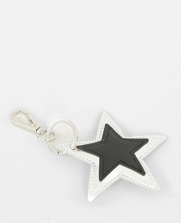 Porte-clés étoile blanc cassé