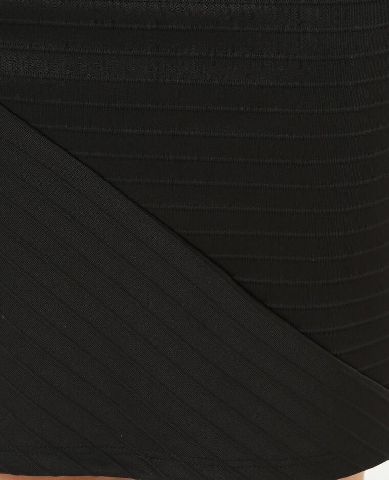 Minigonna con texture nero