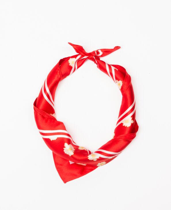 Halstuch aus geblümtem Satin Rot