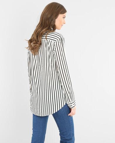 Camisa a rayas marfil