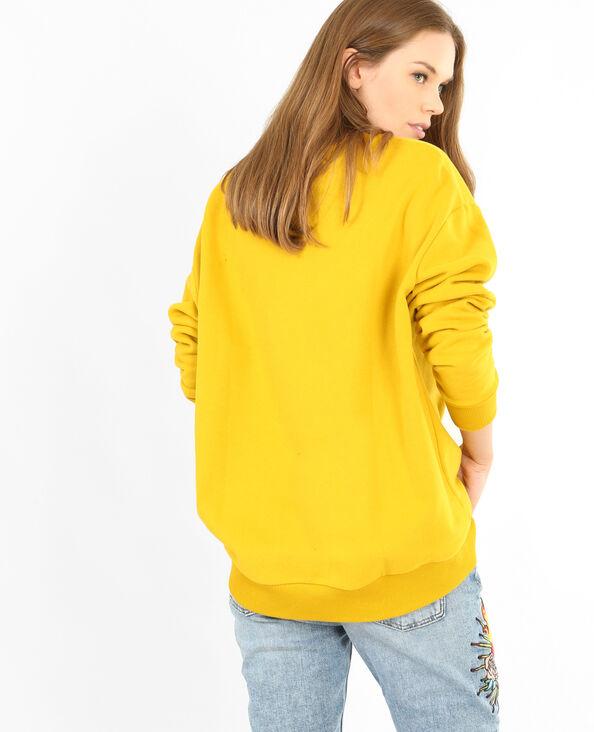 Felpa basic giallo mostarda