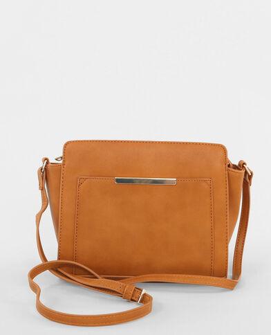 Boxy-Tasche in Trapez-Form Orangebraun