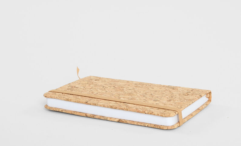 Glitzernotebook aus Kork Gold