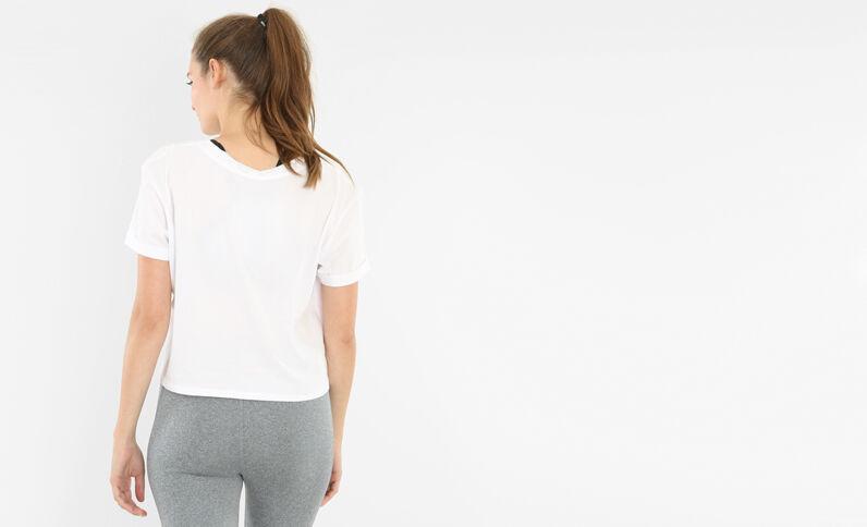 T-shirt cropped sport blanc