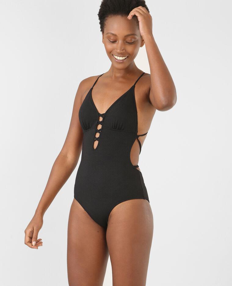 maillot de bain une pi ce noir 902365899a08 pimkie. Black Bedroom Furniture Sets. Home Design Ideas