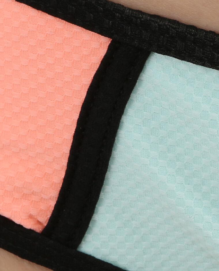 Parte inferior de biquini tricolor rosa