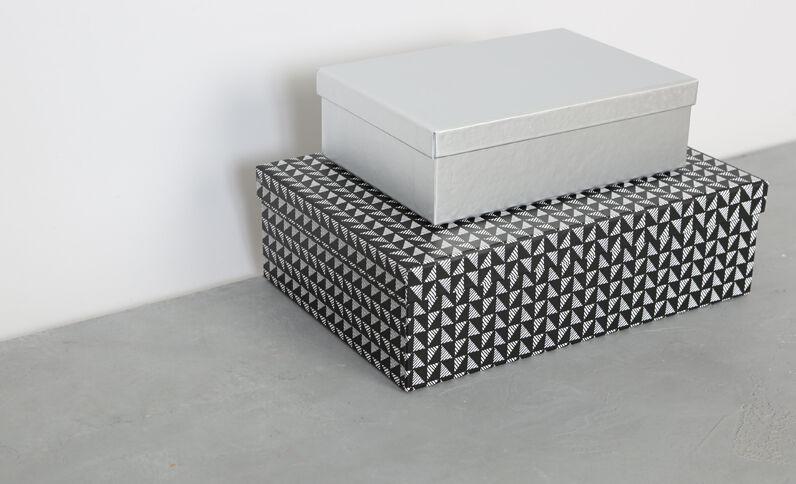 Set aus 2 Pappschachteln Schwarz