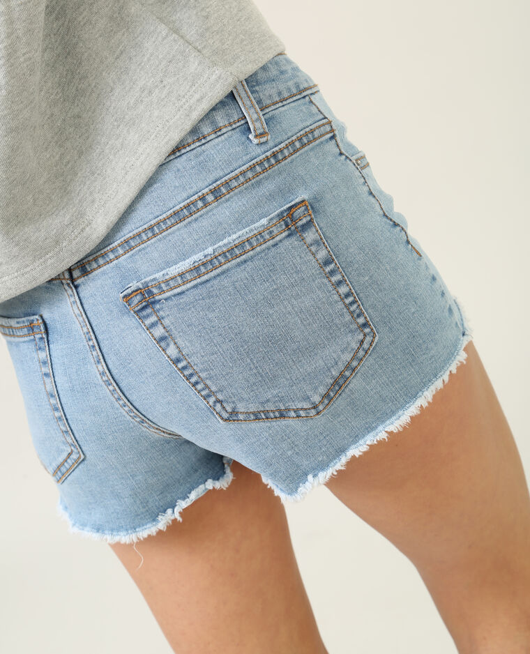 Mini short denim bleu