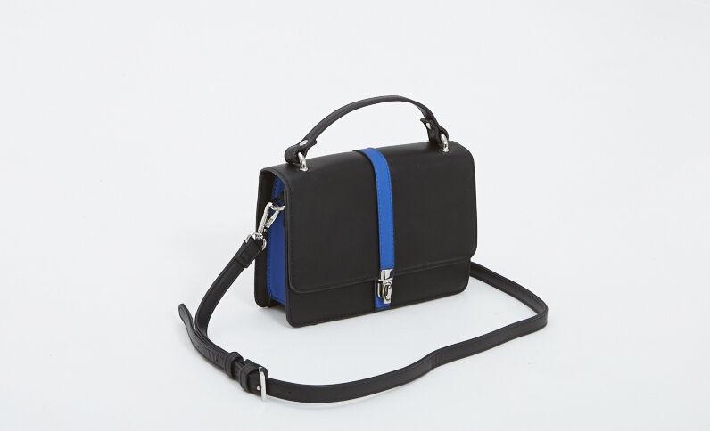 Bolso pequeño de polipiel negro