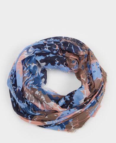 Halstuch bedruckter Kragen Marineblau