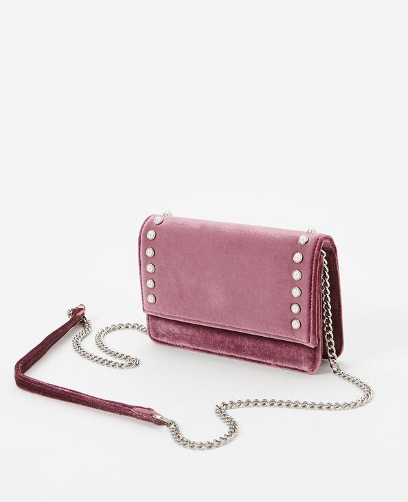 Borsa boxy velluto rosa