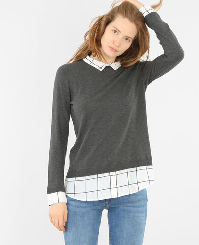 Pull effet superposition gris