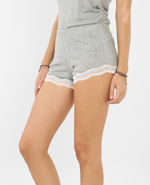 Short homewear gris