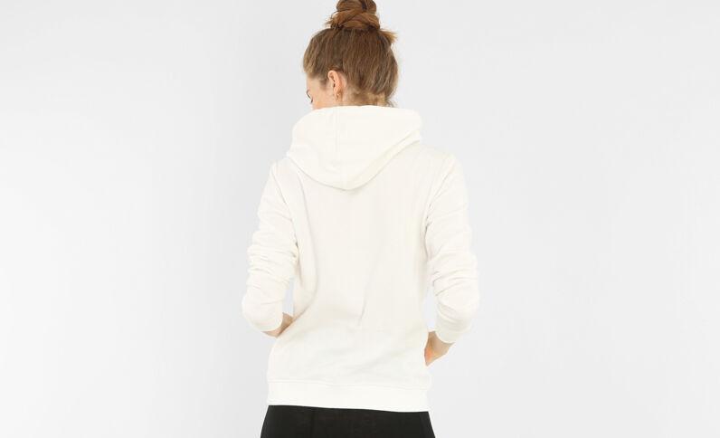 Kapuzen-Sweatshirt Altweiß