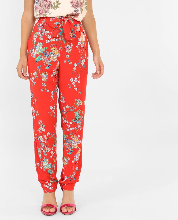 pantalon fluide rouge 140316344i89 pimkie. Black Bedroom Furniture Sets. Home Design Ideas