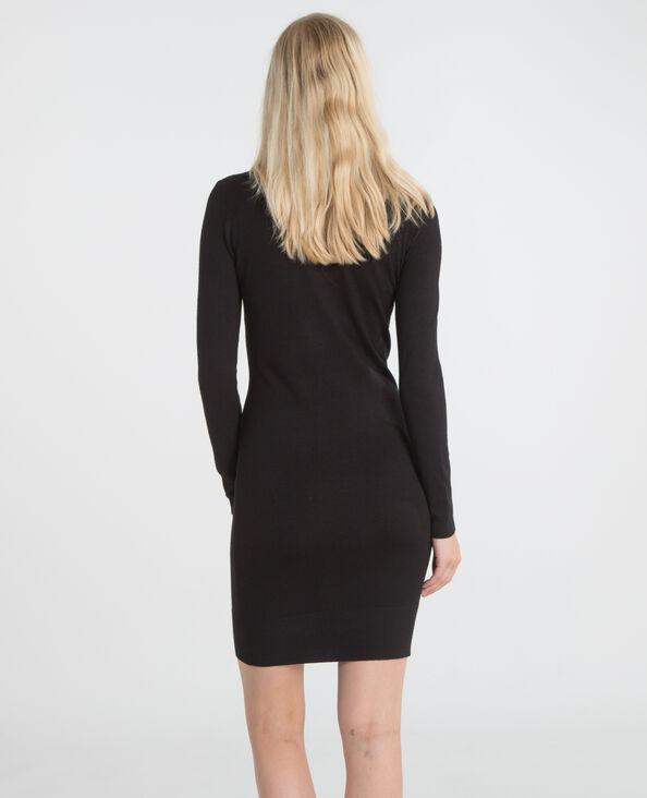 Pulloverkleid mit Rollkragen Schwarz